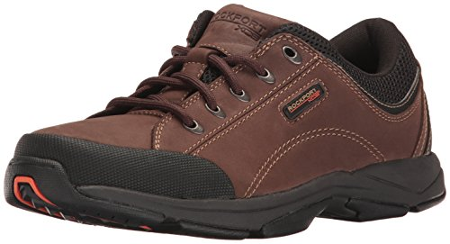 Tie Rock - Rockport Men's Chranson Lace-Up-Dark Brown/Black-10.5  M