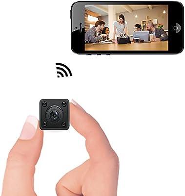 Mini cámara WiFi - Cámara espía Oculta inalámbrica Bysameyee con detección de Movimiento Almacenamiento en la Nube con visión Nocturna, grabadora de Video ...