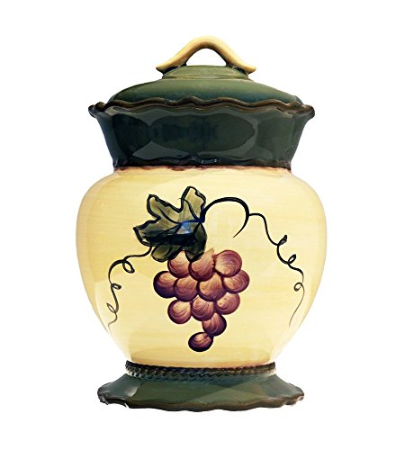 Tuscany Garden Collection, Ceramic Grape Cookie Jar, 84076 by - Cookie Jar Grapes