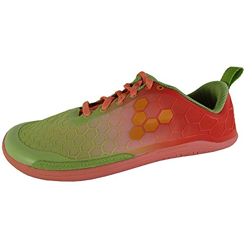 Vivobarefoot Women's Evo Pure Running Shoe, Coral/Lime, 35 EU/5-5.5 M US