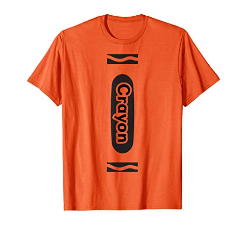 Orange Crayon Tshirt Halloween Group Costume Easy DIY Funny -