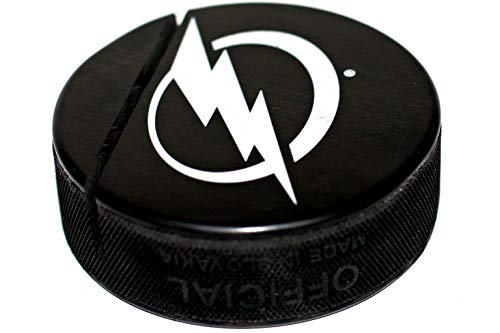 EBINGERS PLACE Tampa Bay Lightning Basic Logo Hockey Puck Business Card Holder