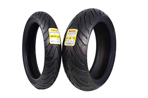 Pirelli Angel ST Front & Rear Street Sport Touring Motorcycle Tires (1x Front 120/70ZR17 1x Rear 190/50ZR17) (50zr17 190 Motorcycle Tire)
