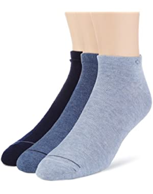 Calvin Klein 3-Pack Men's Casual Trainer Socks, Blue