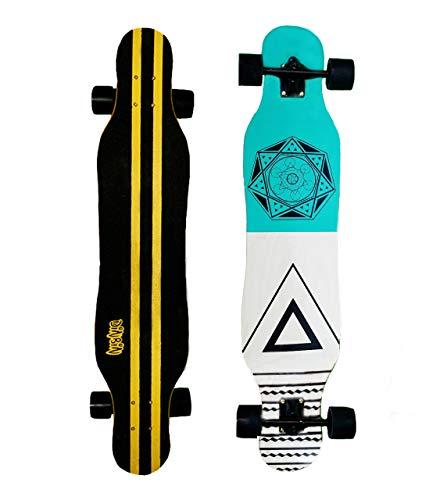 DINBIN Longboard Skateboard 41 Inch Drop Through Deck Complete Cruiser for Dancing Cruising Freestyle