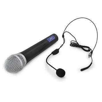Vonyx 179183 Stwm712 microfono inalambrico doble de mano vhf