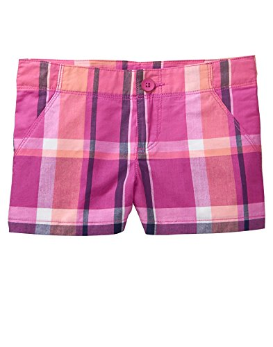 Gymboree Little Girls' Printed Trouser Shorts, Bright Rose Plaid, 6 by Gymboree