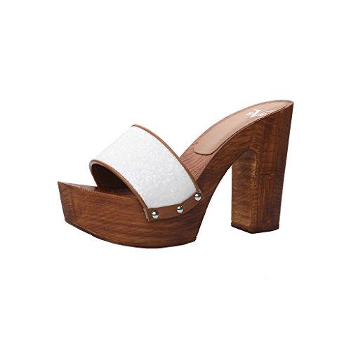 V 1969 LORETTA scarpe zoccoli Women Bianco