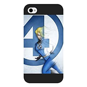 Onelee Customized Marvel Series Case for iPhone 4 4S, Marvel Comic Hero Invisible Woman iPhone 4 4S Case, Only Fit for Apple iPhone 4 4S (Black Frosted Case) by ruishername
