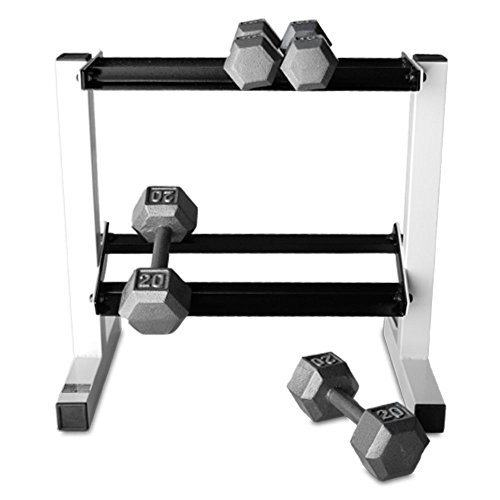 CAP-Barbell-150-lb-Hex-Dumbbell-Set-with-Rack