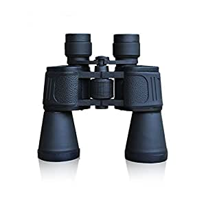 Windsport Telescope HD Powerful Binoculars(BAK4, FMC Blue Lens) Compact Durable Clear 10 x 50 with Weak Light Night Vision Waterproof and Fogproof for Hunting Bird Watching Travelling (BLACK)