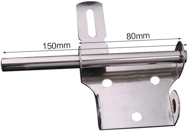 Nubstoer Sourcingmap Lot de 2 verrous de Porte en Acier Inoxydable bross/é Finition bross/ée 10,2 cm