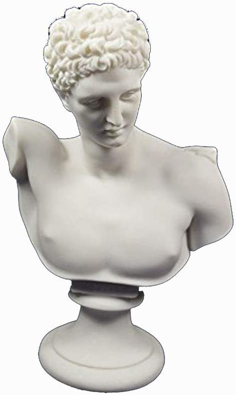Hermes Bust Sculpture Ancient Greek God Conductor of Souls into The Afterlife