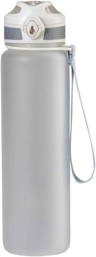 Stylelove Botella Deportiva a Prueba de Fugas de 1000 ml con Tapa de Copa rebotante Botella de Bebida portátil Frasco de hidratación de plástico Taza de Viaje Botella de Agua