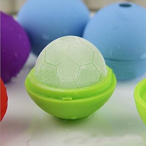 Compra Silicona molde de hielo balón de fútbol/bola de hielo molde ...