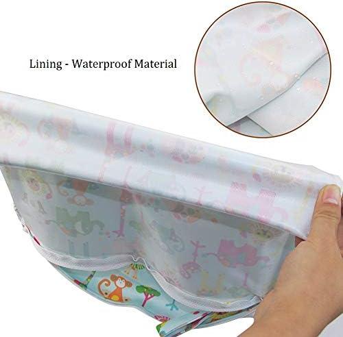 Bolsas para Pa/ñales iZiv 2 Paquete Beb/é Prueba de Agua Reutilizable Wet Dry Bag Reutilizable Impermeable Lavable Suspender Grandes Organizador Doble Cremallera Impresi/ón Bolsa de Pa/ñales