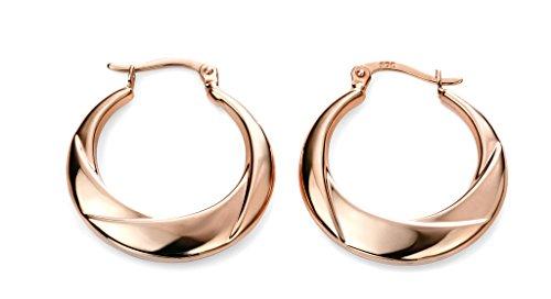 Boucles d'oreilles créoles en or rose 9carats