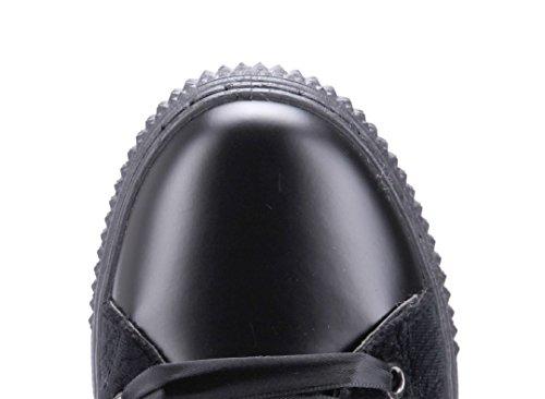 Schuhtempel24 Damen Schuhe High Sneaker Flach Ziersteine/Gemustert Schwarz