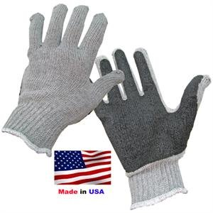 Glove w/latex palm gray LARGE Made in (Latex Gripper Gloves)