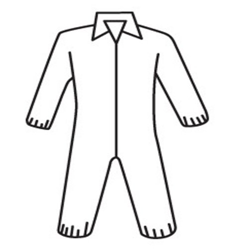 West Chester 3502 XL STD WGT Sbp Coverall with Elastic Wrist & Ankles, XL, White (Pack of 25)