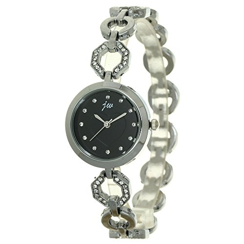 Rhinestone Bracelet Jewelry Watch Fashion Womens Silver Band Stainless Steel Chain Wristband Bangle Hip Hop Jewelry Heart Pattern Dial Watch from TimeMax