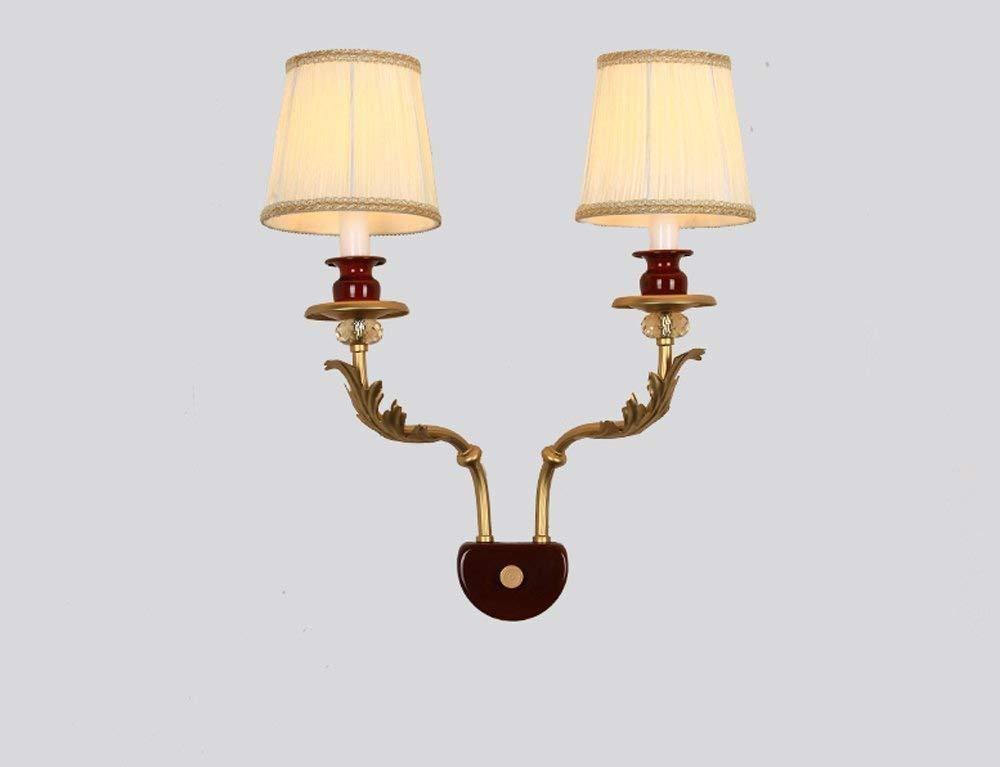 FuweiEncore Die Schlafzimmer-Bett-doppelköpfige gemäßnschaften starten einfachen Flur-Wand-Lampen-Stoff (Größe  470  400Mm) (Farbe   470  400mm)