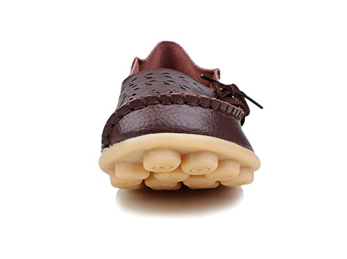 Slipper Women's Causal Out Moccasins Ifashion Loafers Drivers Hollow Shoes Boat Flats Coffee Pumps Carving awW1Rq