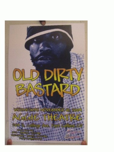 Old Dirty Bastard Poster Concert Gig Ol Ol Odb The Wu Tang Clan