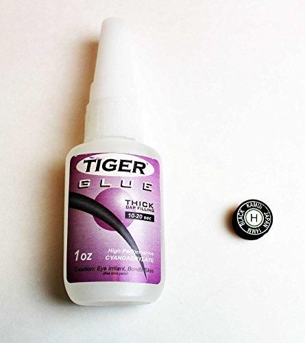 (Bundle Kamui Black Laminated Leather Tip - Hard Tiger Glue)