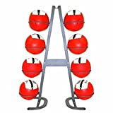 Power Systems Mega Medicine Ball Storage Rack, 8 Ball Capacity, Gray (24025)