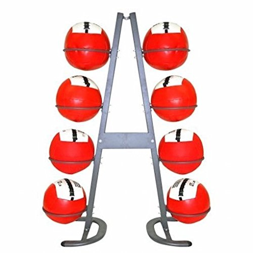 Power Systems Mega Medicine Ball Storage Rack, 8 Ball Capacity, Gray (24025) by Power Systems