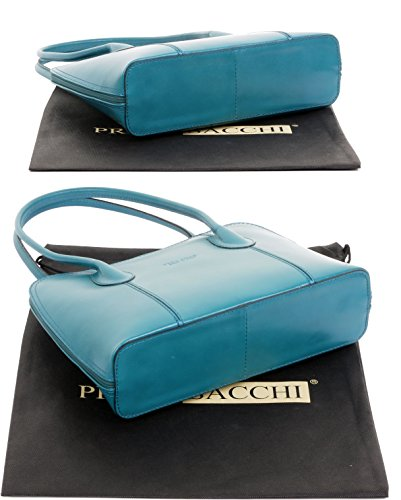 Primo Handbag Made Italian Includes Protective Handled Bag Tote Teal Hand Shoulder Long Bag Grab Style Storage Smooth a Classic Leather Bag Sacchi Branded or v5rwqXTv