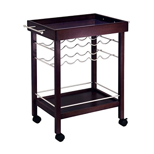 Winsome Trading, Inc. 92329 Johnnie Wine Storage, Dark Espresso