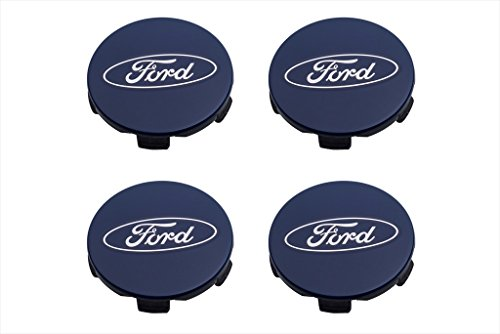 2015-2016 Ford F-150 Expedition Blue Ford Oval Wheel Center Cap Covers Set OEM