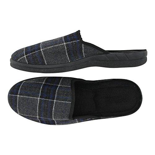 brandsseller - Zapatillas de estar por casa de Material Sintético para hombre gris/azul