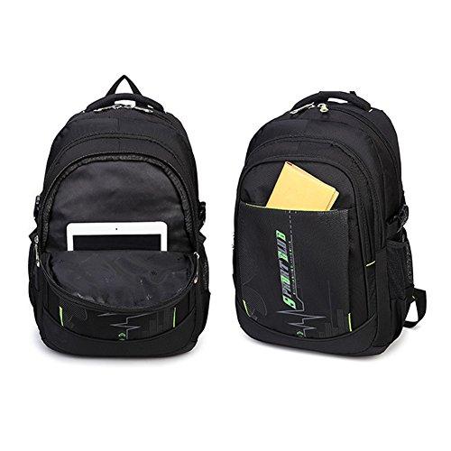 Abshoo Cool Boys School Backpacks For Middle School Student Backpack Bookbag (Black Blue)