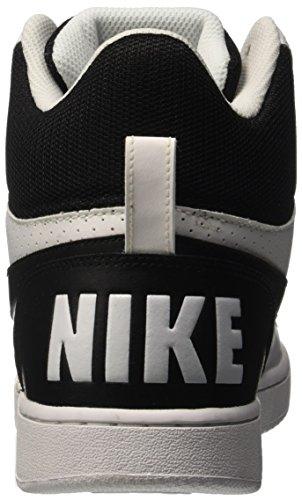 Mid Basket Nero Bianco Bianco Court Borough Scarpe Nike Uomo da gnF4qREA