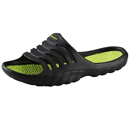 Chanclas Pamplona M de la marca Tecnopro, hombre, negro / verde, 46 negro / verde