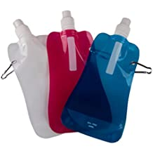 Sports Water Bottles by Clever Creations   Collapsible & Camping Friendly   BPA Free   Unique Collapsible Bottles hold 480 mL each   Perfect for Biking, Hiking or Relaxing
