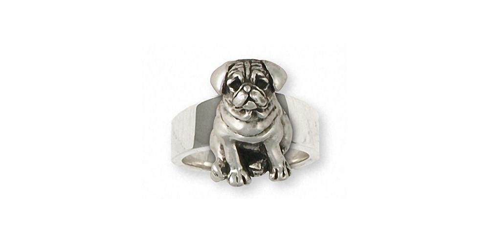 Esquivel-and-Fees-Pug-Jewelry-Sterling-Silver-Pug-Ring-Handmade-Dog-Jewelry-PG24-R