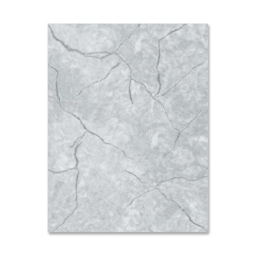 Geographics Marble-Gray Image Stationery - For Laser Print - Letter - 8.50quot; x 11quot; - 60 lb - Recycled - 100/Pack - - Image Gray