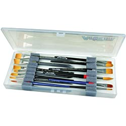ArtBin Brush Box with Foam Inserts, Translucent Clear