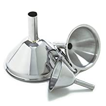 Norpro Stainless Steel Funnel Set, 3-Piece