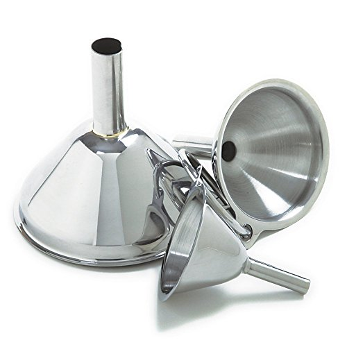 - Norpro Stainless Steel Funnels, Set of 3