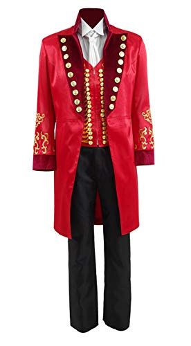 Greatest Showman PT Barnum Tailcoat Cosplay Performance Costume for Halloween ()