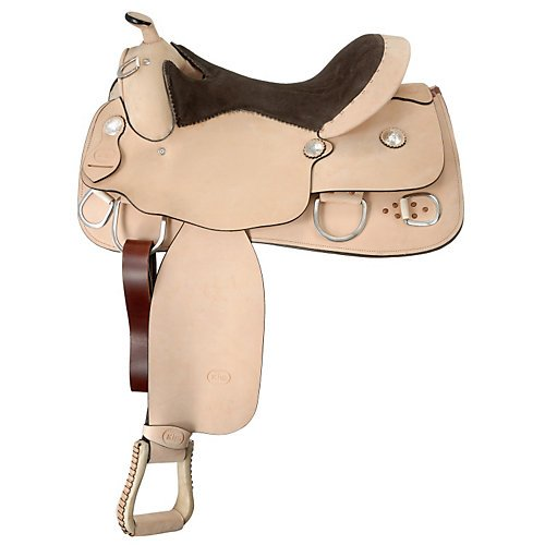 King Series Roughout Trainer Saddle 14 Natural