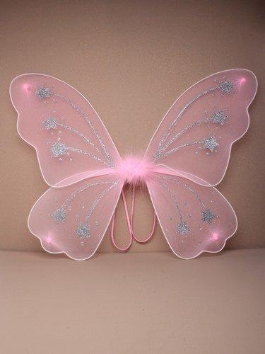 Allsorts/® Large Pink Glitter Angel Fairy Fancy Dress Wings