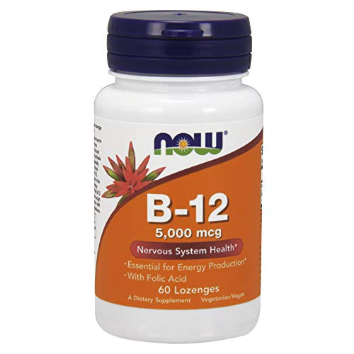 Now Foods Vitamin B-12 5,000mcg, 60 Lozenges