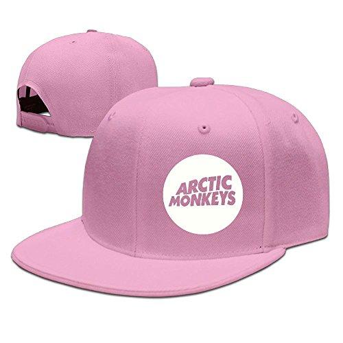 XiaoHans Men Arctic Monkey Funny Travel Pink Caps Hats Adjustable Snapback - Youth Sock Monkey Costume