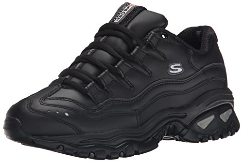 Skechers Sport Women's Energy Sneaker,Black,9 C - (Skechers Leather Lace Up Sneakers)